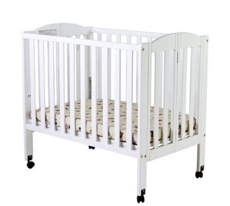 Dream On Me 2 In 1 Portable Folding Stationary Side Crib White Baby With Images Cribs Portable Baby Cribs