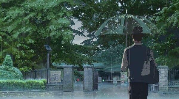 Rainy Anime Wallpaper I Love It Garden Of Words Anime Scenery Anime Background