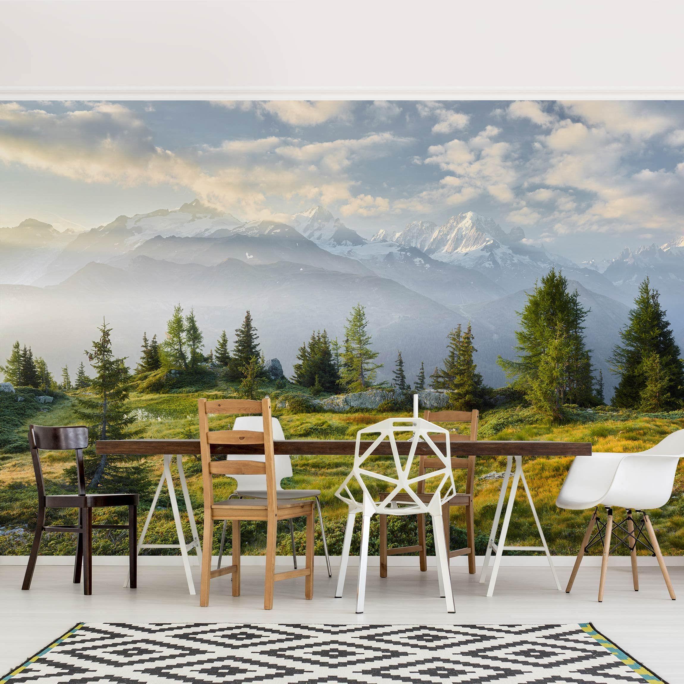 Carta da parati larga Emosson Wallis Switzerland