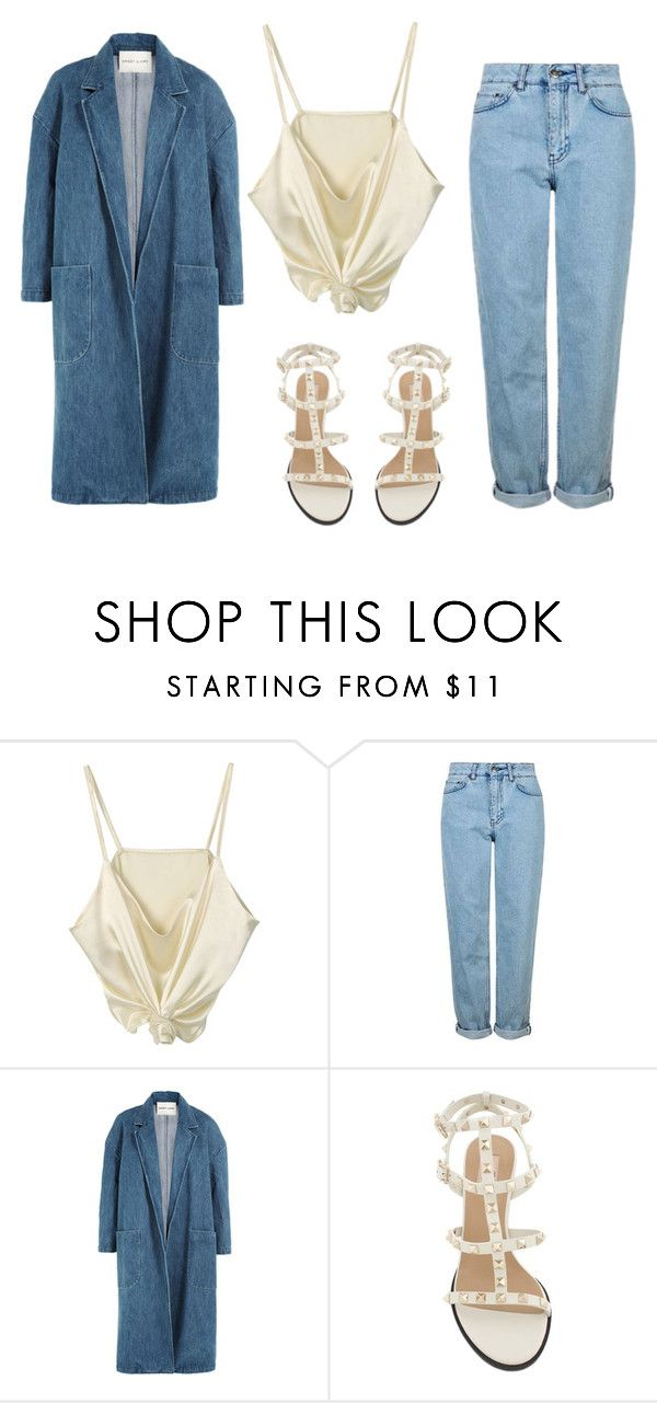 """""""90s are back"""" by stylekaris ❤ liked on Polyvore featuring Topshop and Sandy Liang"""