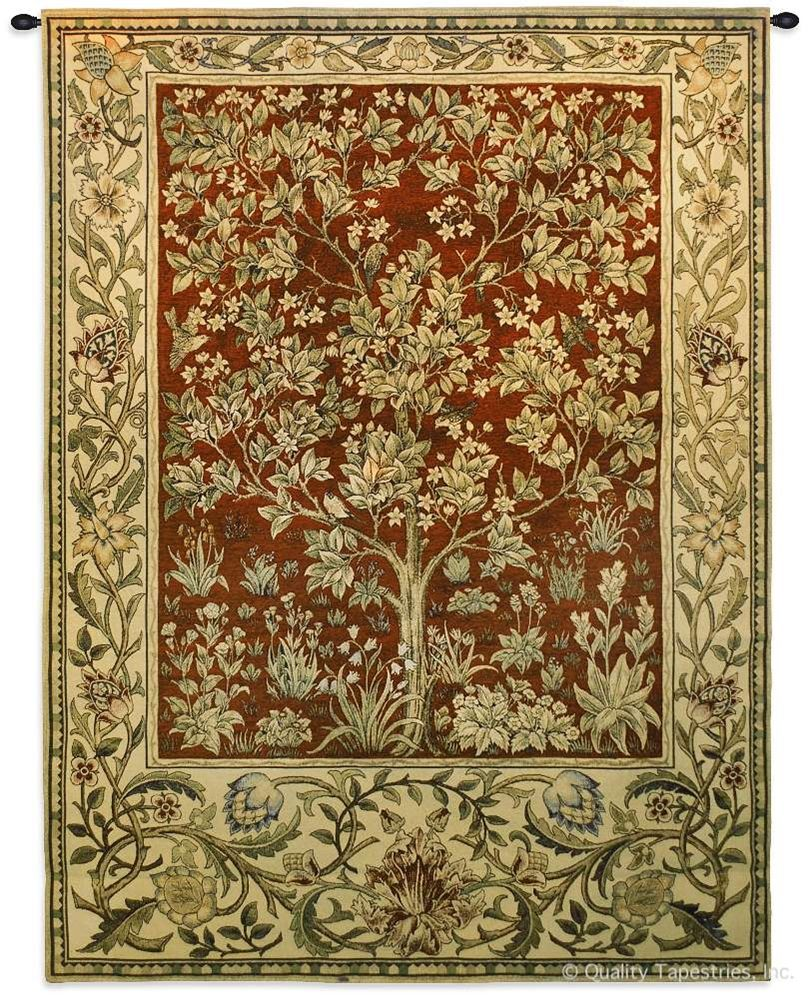Tree Of Life Ruby Red William Morris Wall Tapestry In 2020