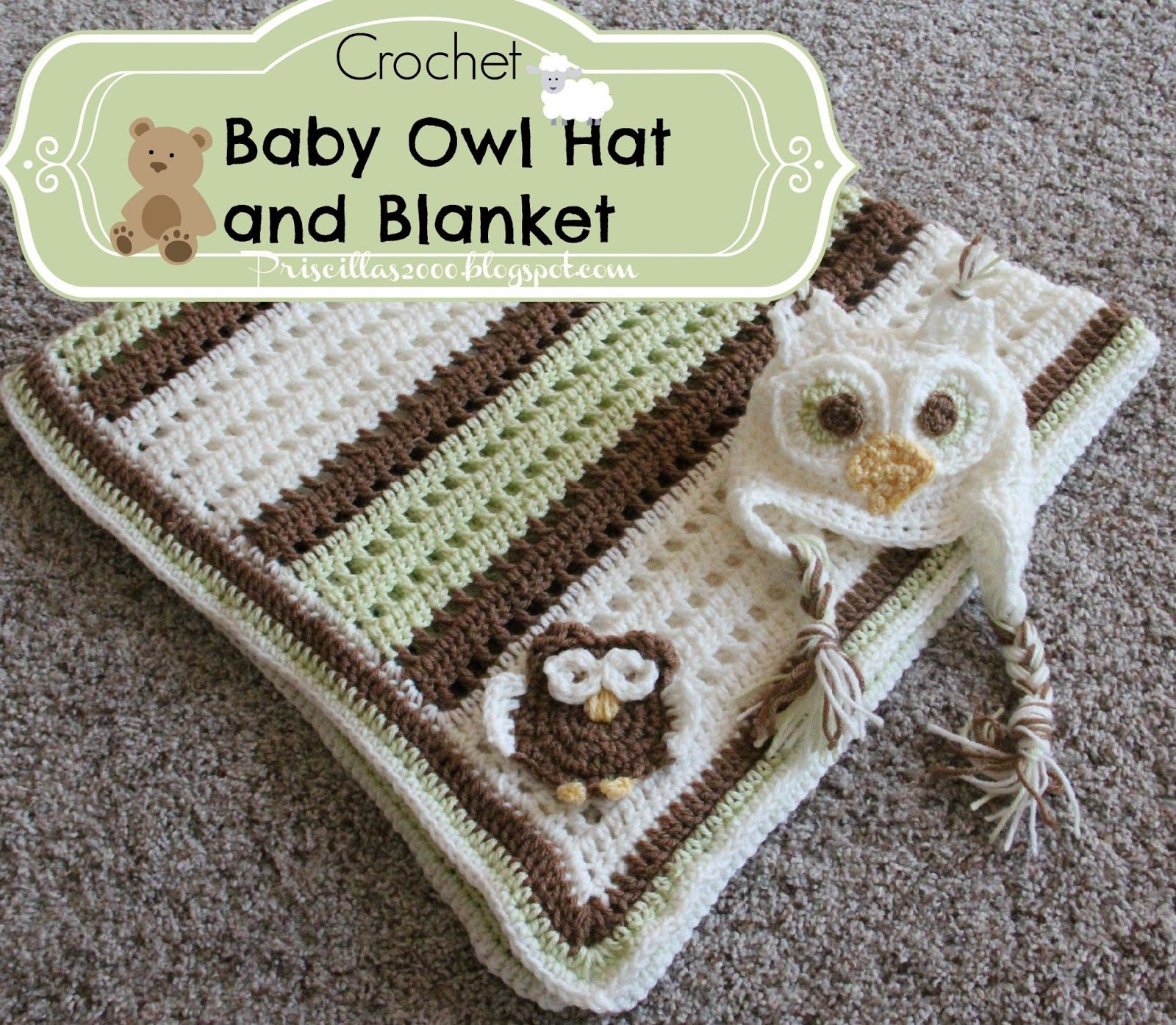 Priscillas crochetby boy owl blanket and hat crochetholic priscillas crochetby boy owl blanket and hat bankloansurffo Image collections