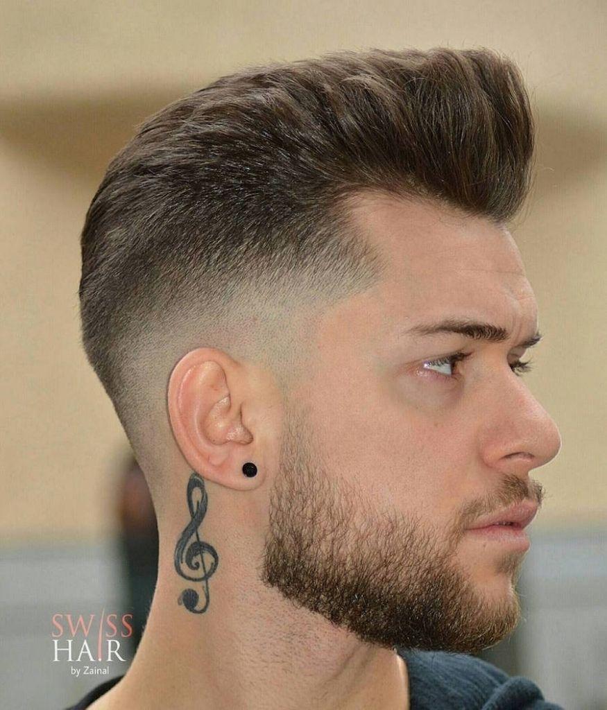 coiffure homme fondu a blanc