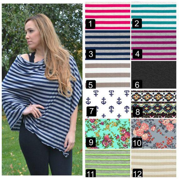 THE ORIGINAL NURSING Poncho. More Fabric Choices! Nursing Cover Nursing Poncho Scarf Breastfeeding Cover striped fabric floral