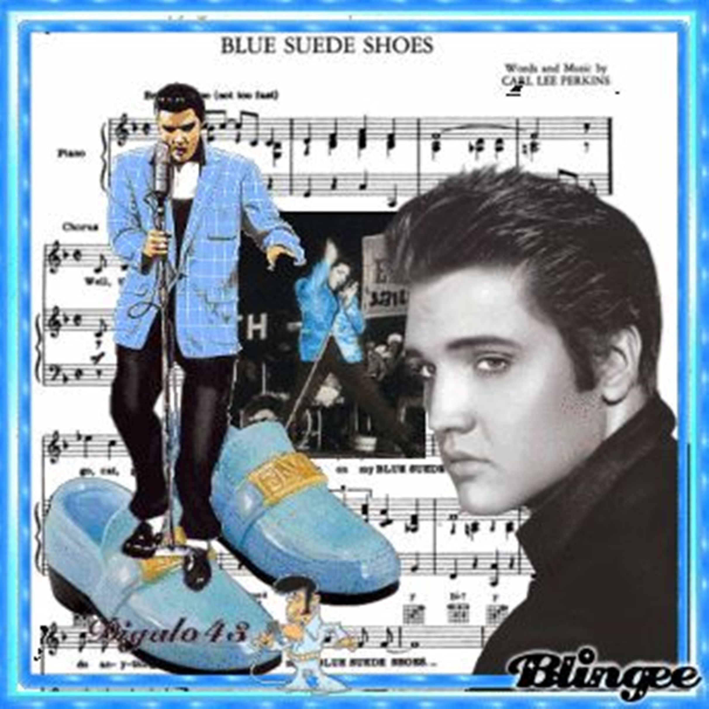 Elvis Blue Suede Shoes, Blue