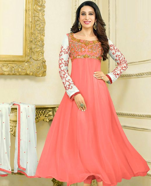 48ff10f02 Embroidery Designer Anarkali Suit   79% OFF Rs 799.00 Only Type Embroidery  Designer Semi Stitched Anarkali Suit For Women Occasion Casual