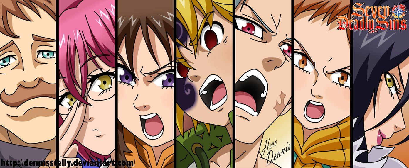 Nanatsu no Taizai Full Team by DennisStelly