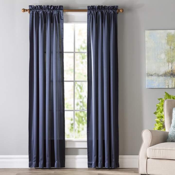 Wayfair Basics Grover Solid Semi Sheer Rod Pocket Single Curtain