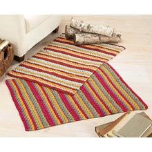 Crochet Colorful Rugs, Set of 2 Kits - Willow Yarns