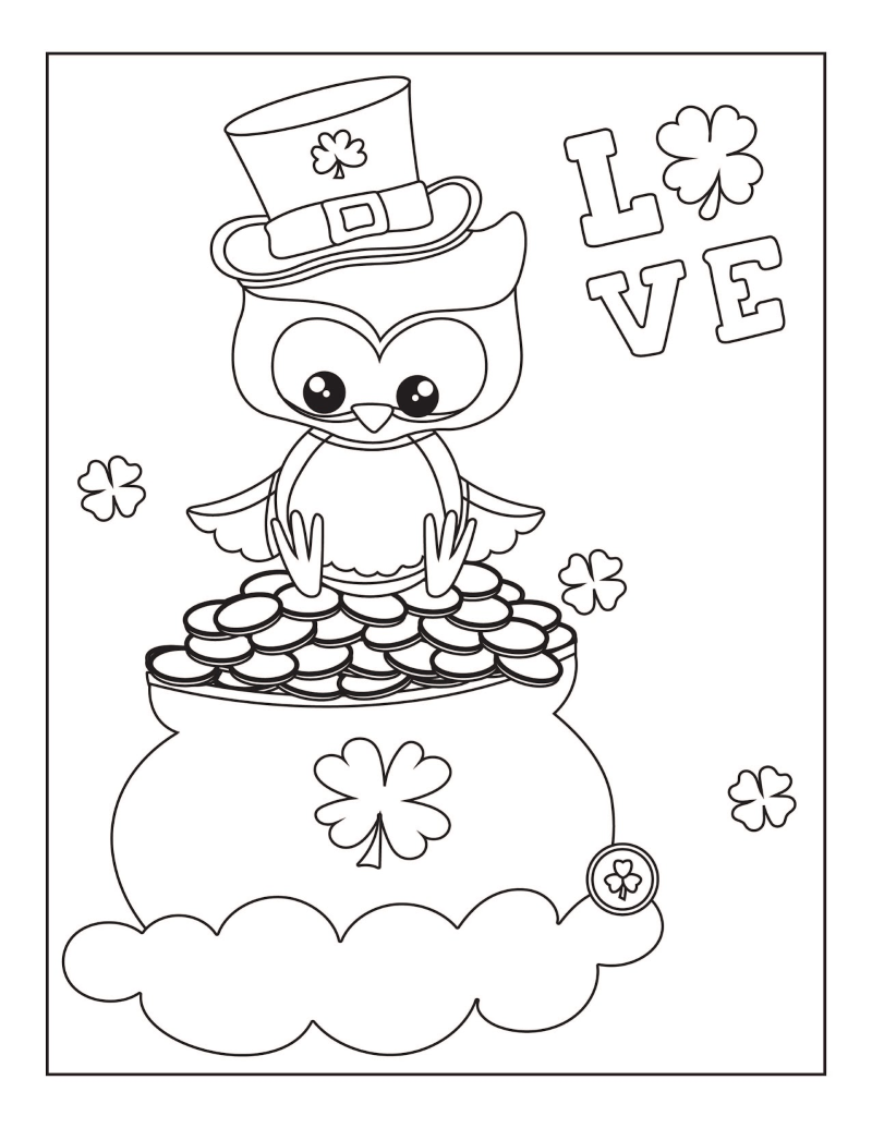 Free Printable St Patrick S Day Coloring Pages Oh My Creative Free Printable Coloring Pages Free Printable Coloring Coloring Pages [ 1035 x 800 Pixel ]