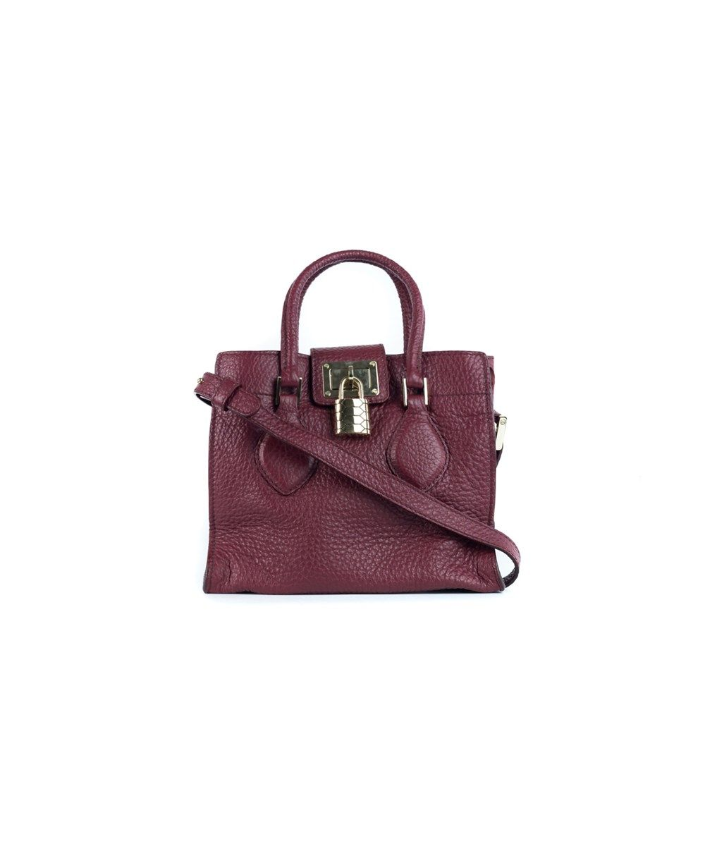 ROBERTO CAVALLI Roberto Cavalli Women s Garnet Red Textured Leather