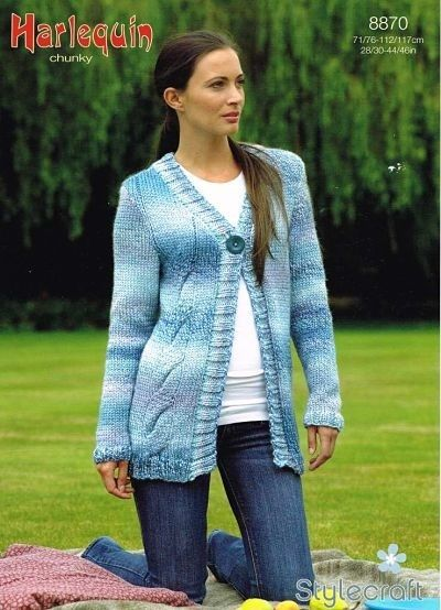 Stylecraft Ladies Chunky Cardigan Knitting Pattern8870 Knitting