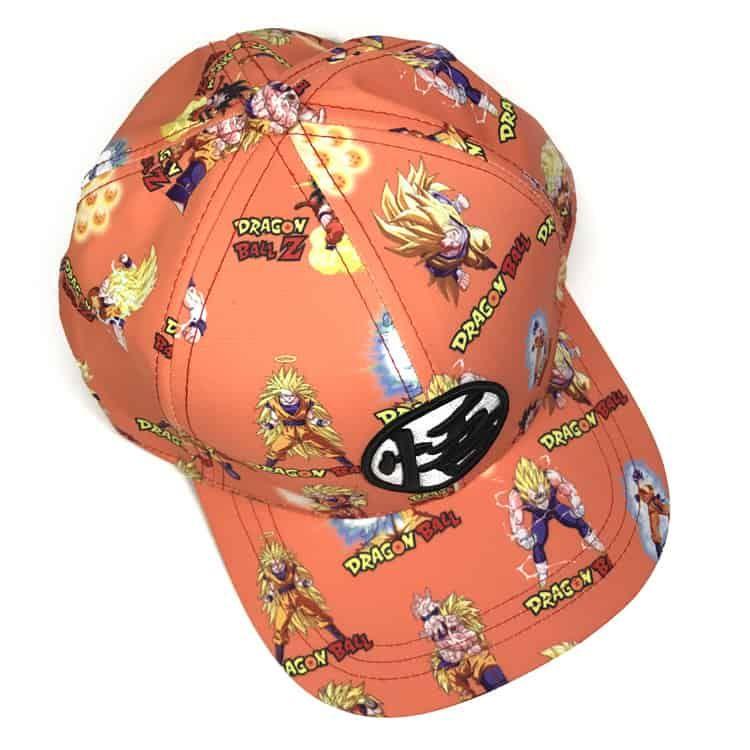 3df2239b92c Dragon Ball Z Super Saiyan Son Goku Vegeta Print Snapback Cap ...