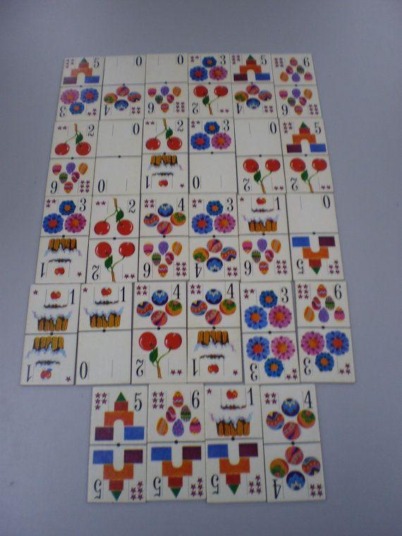 vintage number domino card game van PurePopulus op Etsy, $2,50
