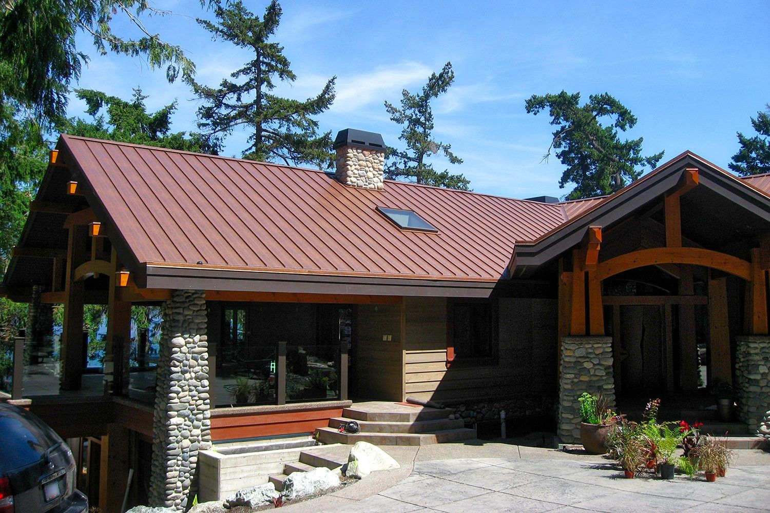 Brown Gutter Red Roof Image Result For Dark Red Standing Seam Roof Standing Seam Metal Roof Standing Seam Roof