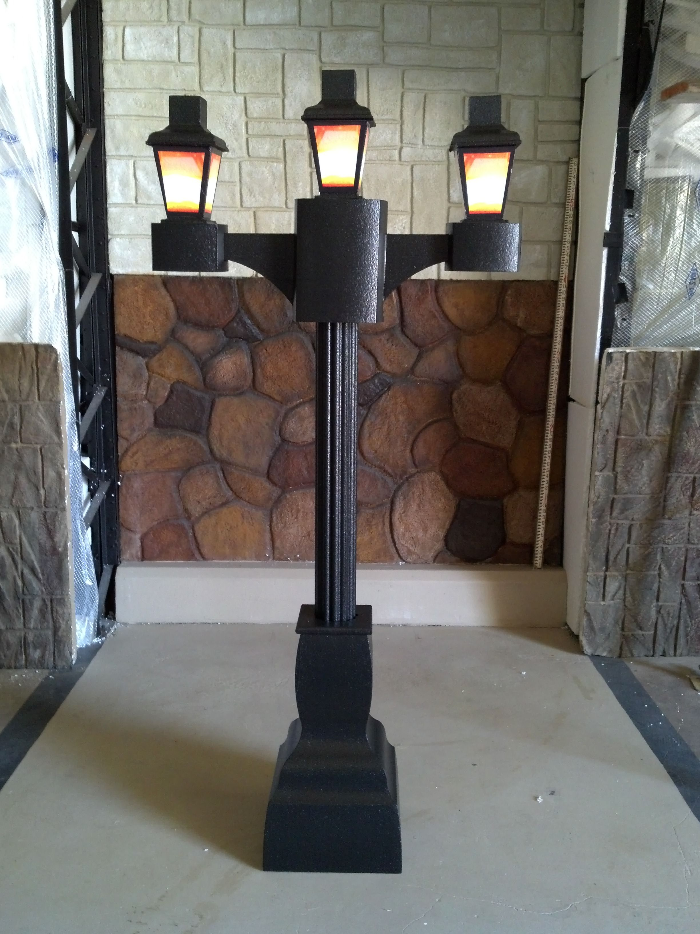 This Is A 6ft Tall Victorian Lamp Post Display Made From Eps