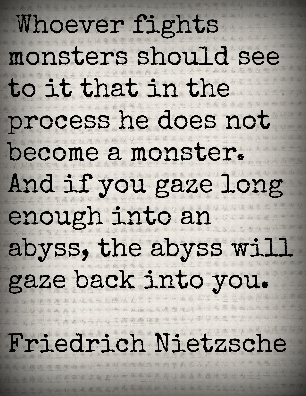 nietzsche abyss quote