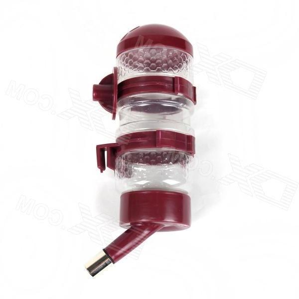 Stylish Plastic Pet Water Dispenser - Red (500mL)