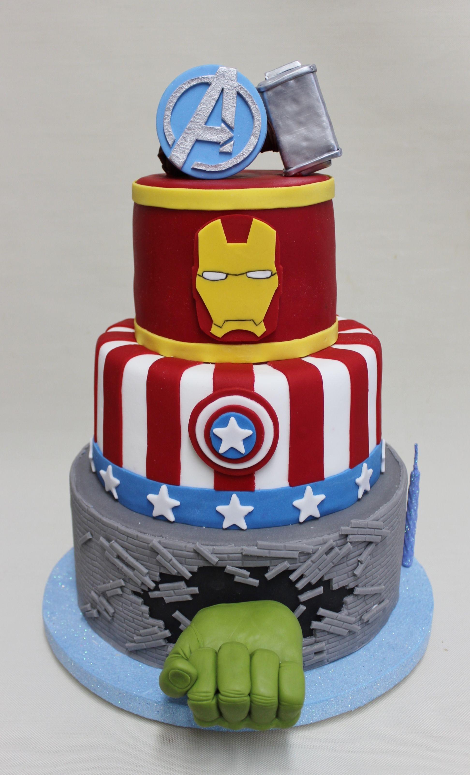 Avengers Cake Violeta Glace Avengers Birthday Cakes Avenger