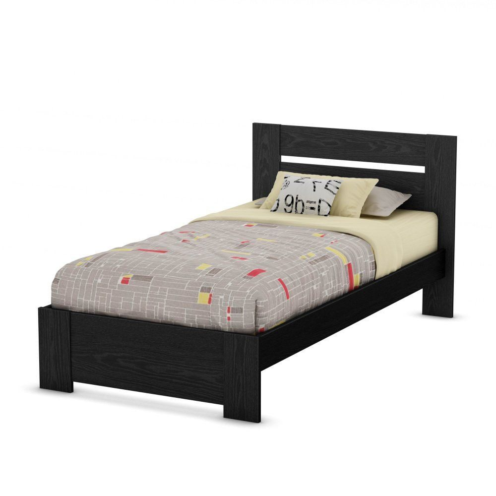 South shore flexible collection twin bed set uu black