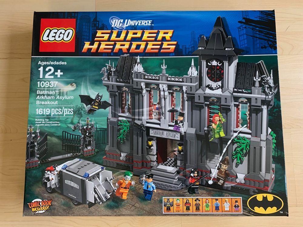 Lego BatmanArkham BatmanArkham Asylum Sealedretired Breakout10937Newamp; Lego QdotrChBsx
