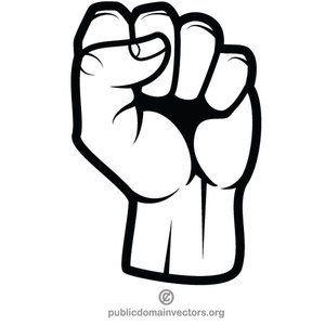 clenched fist vector clip art various vectors in public domain rh pinterest com fist vector png fist vector image