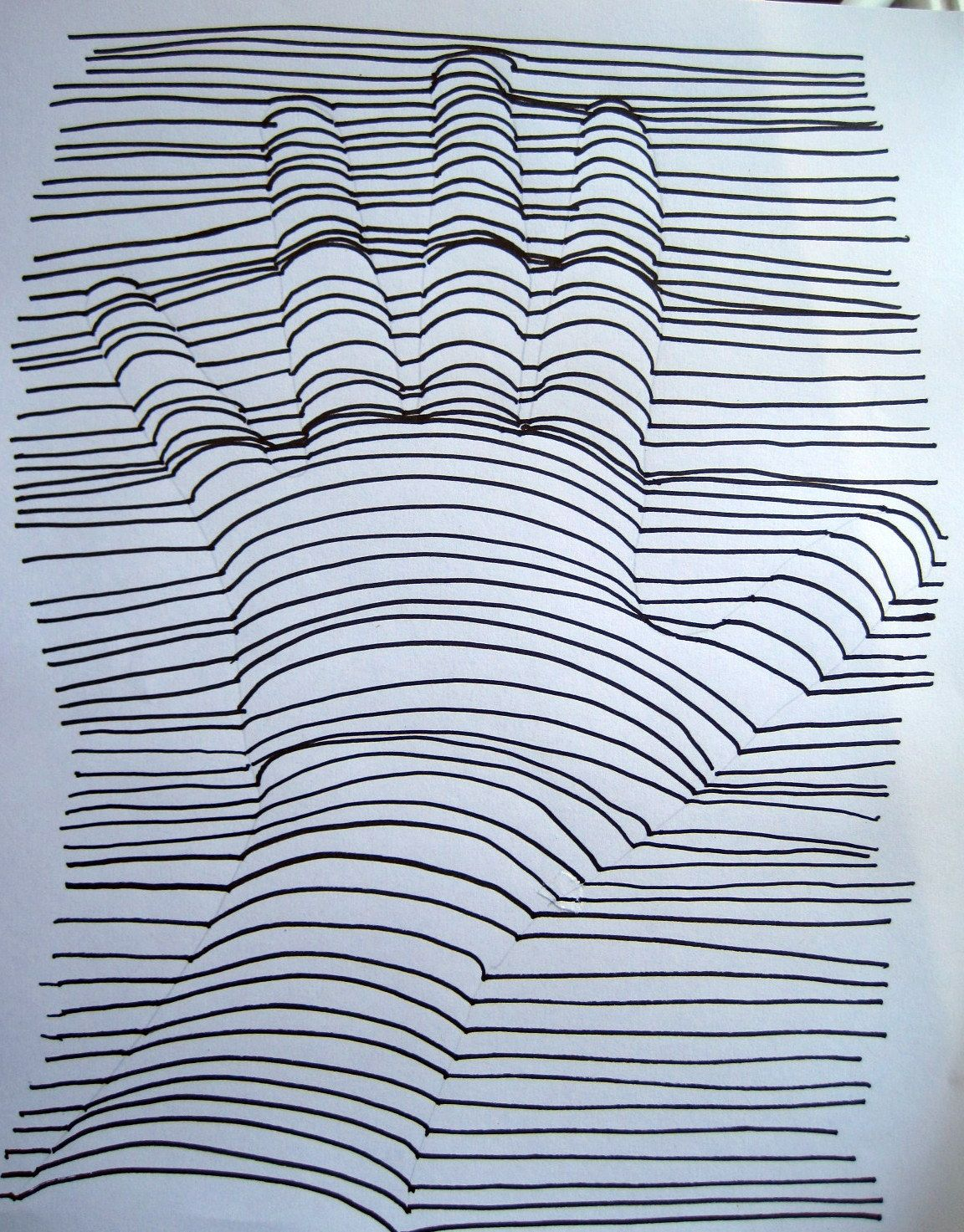3-D Hand Drawing | D, Hand drawings and Drawings