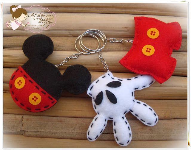llaveros de fieltro mickey. Mickey Mouse sleutelhangers. 2f150d5bf1c