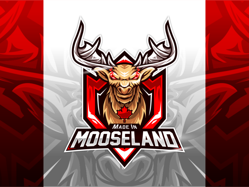 Made In Mooseland Logo Dragon Celtic Warriors Animal Logo