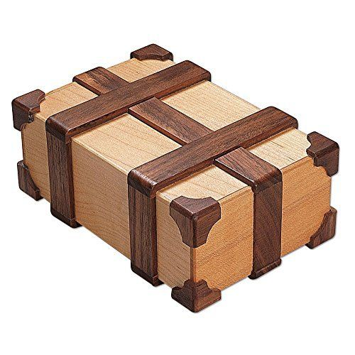 """Bits and Pieces - Kamei Treasure Chest Box Brainteaser Puzzle Box-Wooden Brain Teaser, Crafted of maple and walnut woods - Measures 6"""" x 2-1/2"""" x 4"""" Bits and Pieces http://www.amazon.com/dp/B007TKF2D4/ref=cm_sw_r_pi_dp_meA8wb0SAHTNF"""