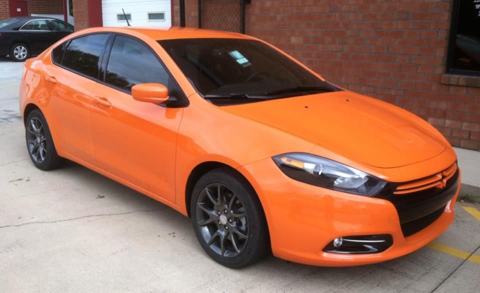 More Window Tinting The Orange And Black Look Really Grabs Your Attention Tinted Windows Windows Automotive