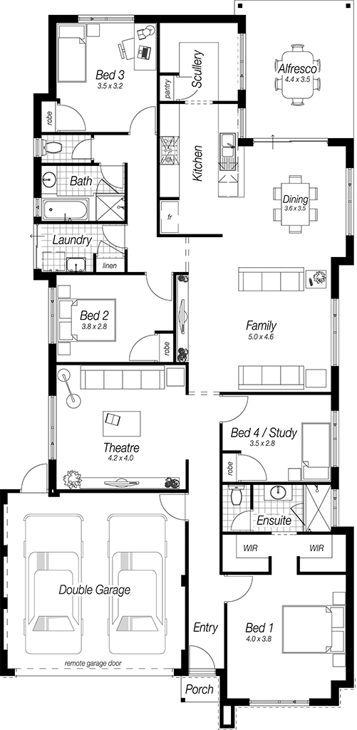 Narrow Block Designs Perth The Corbridge Complete Homes Home House Plans New Home Designs