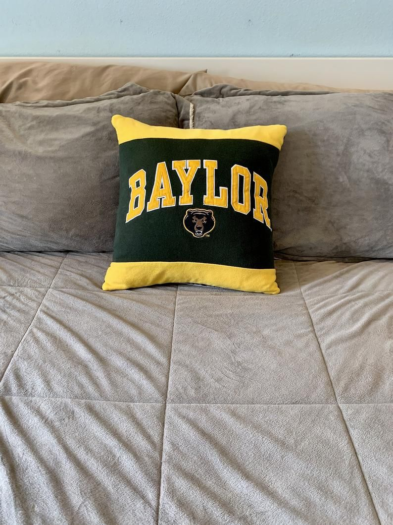 Baylor University Recycled Sweatshirt Pillow