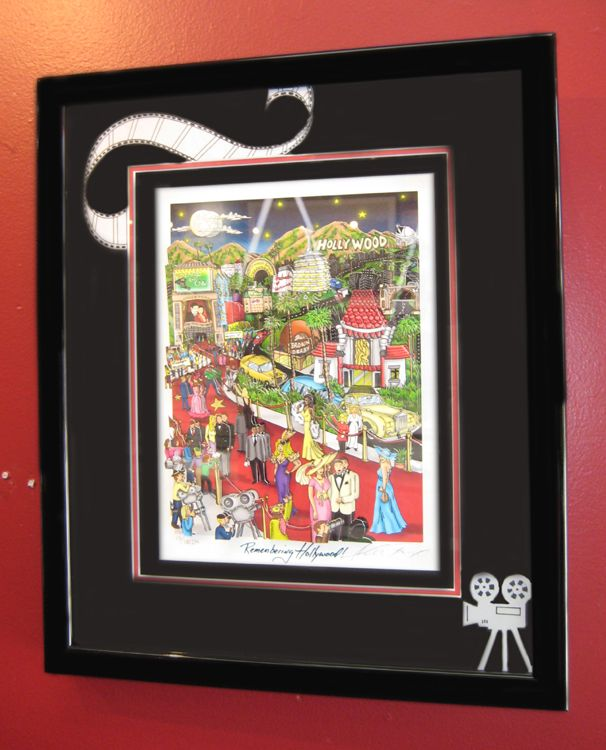 """""""Remembering Hollywood""""    With our special framing!    As seen at Art One Gallery! """"like"""" us for discounts! http://on.fb.me/lbfN8n  www.art-one-gallery.com"""
