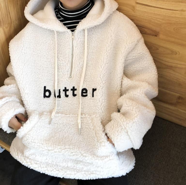 831c3991f8 BUTTER PLUSH WARM LONG OVERSIZED HOODIE Hoodie Sweatshirts