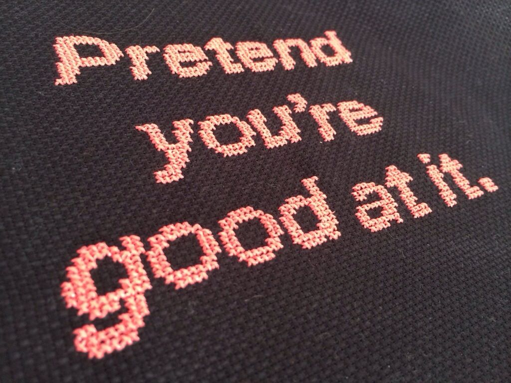 Free pattern friday pretend youure good at it neil gaiman quote