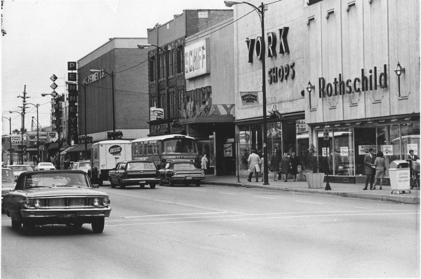 Hammond Indiana Hohman Avenue Street Scenes Circa 1960 S