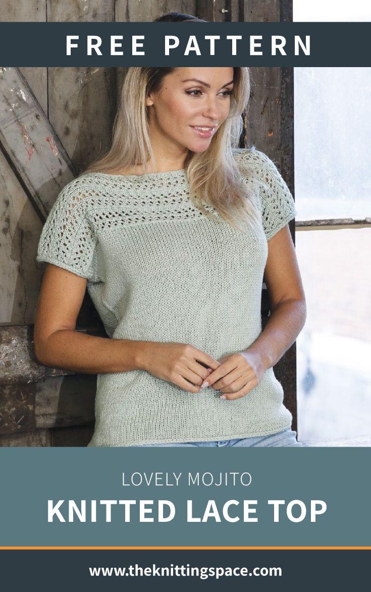 Encantador top de encaje de mojito [FREE Knitting Pattern]