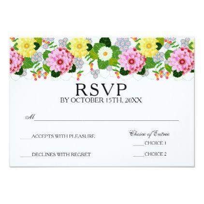 elegant floral botanical spring garden rsvp party card bridal giftsbridal shower