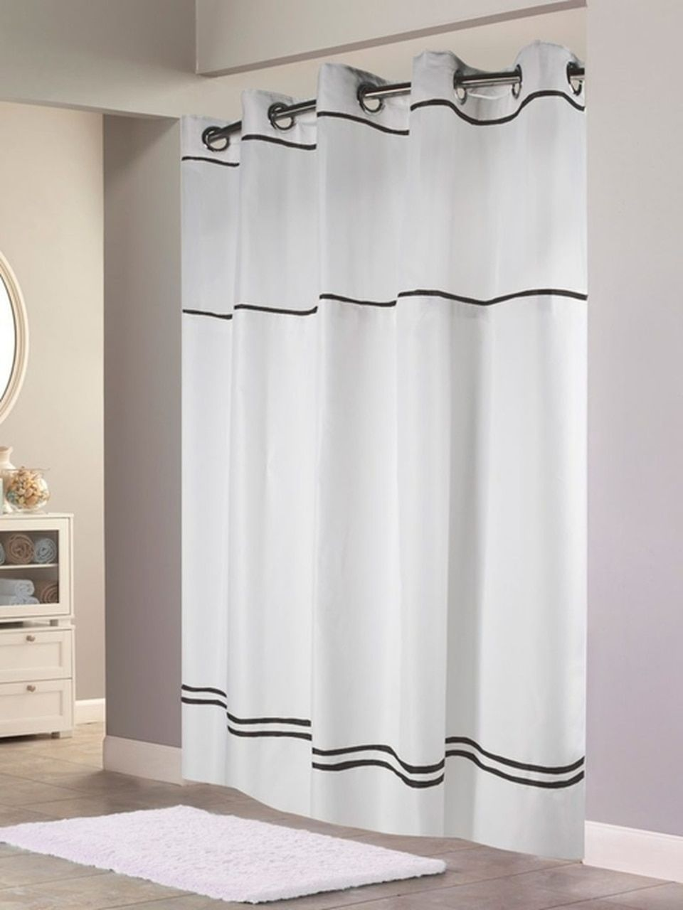 Escape Hookless Shower Curtain With It S A Snap Liner In 2020