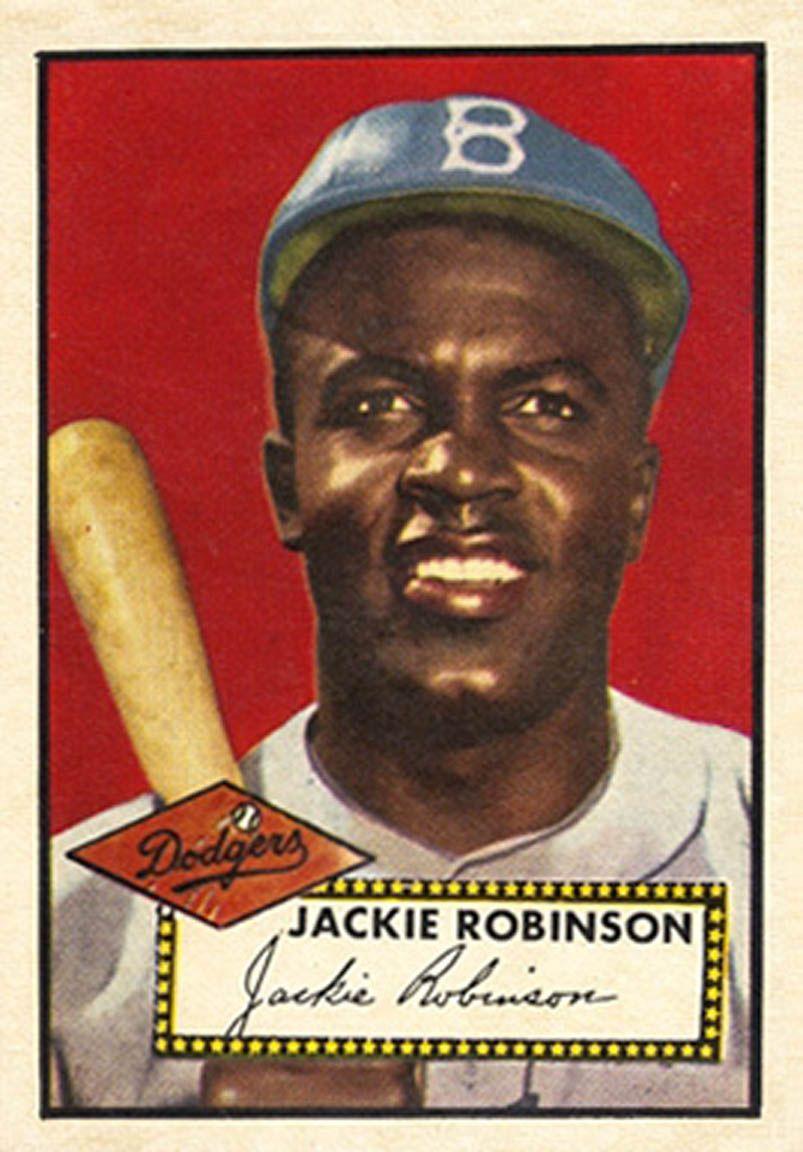 1952 Topps Jackie Robinson Jackie Robinson Baseball Cards Baseball