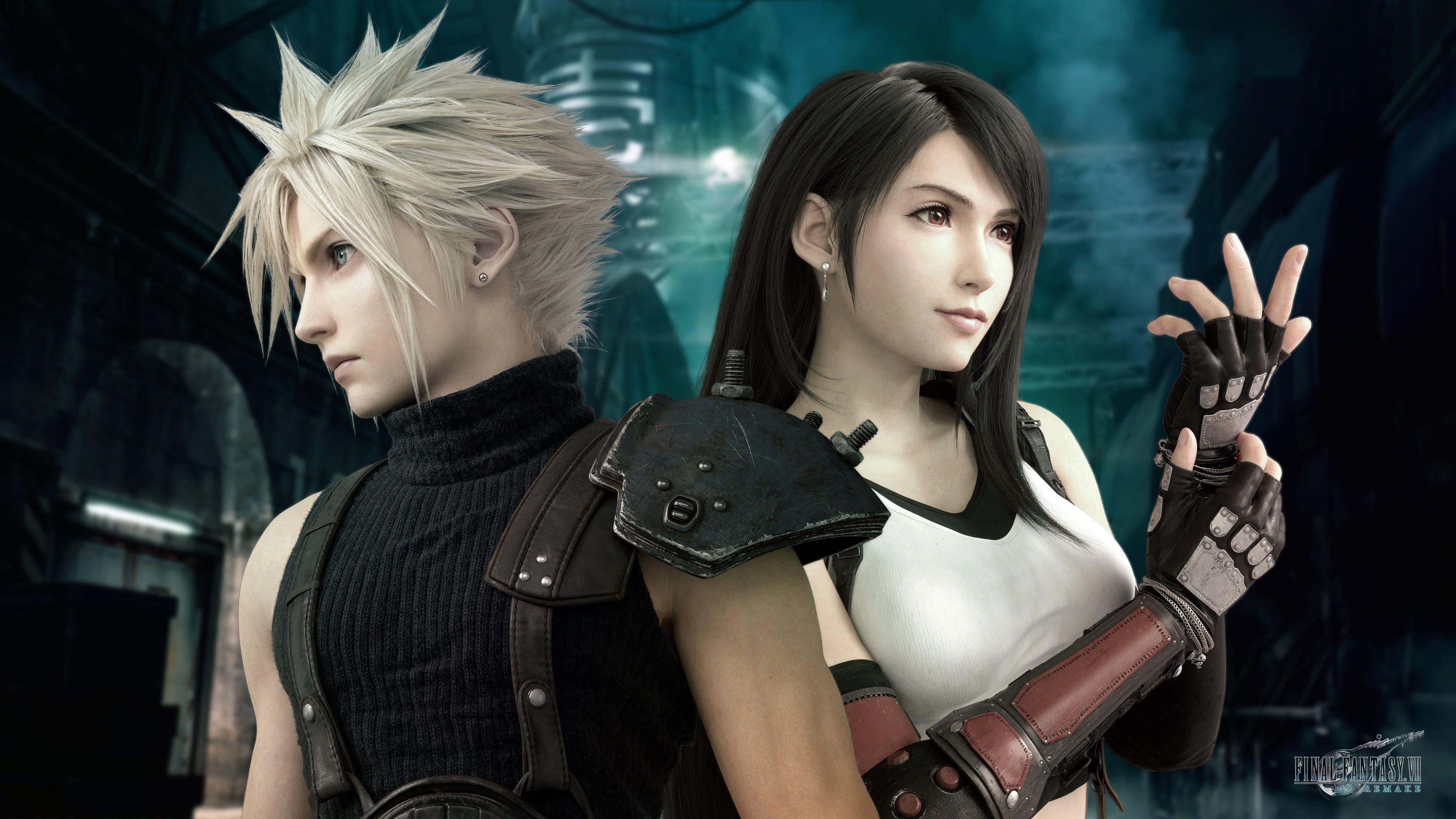 Final Fantasy Vii Remake Tifa Lockhart Cloud Strife Final Fantasy Vii 4k Wallpaper Hdwallpaper De Final Fantasy Vii Cloud Cloud And Tifa Final Fantasy Vii