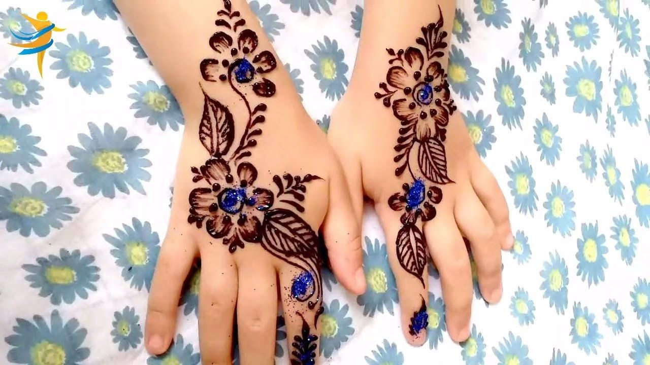 Eid Special Henna Design For Kids Easy Drawing With Henna For Hands Henna Designs For Kids Henna Designs Simple Mehndi Designs
