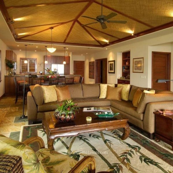 Beach House Living Room, Tropical