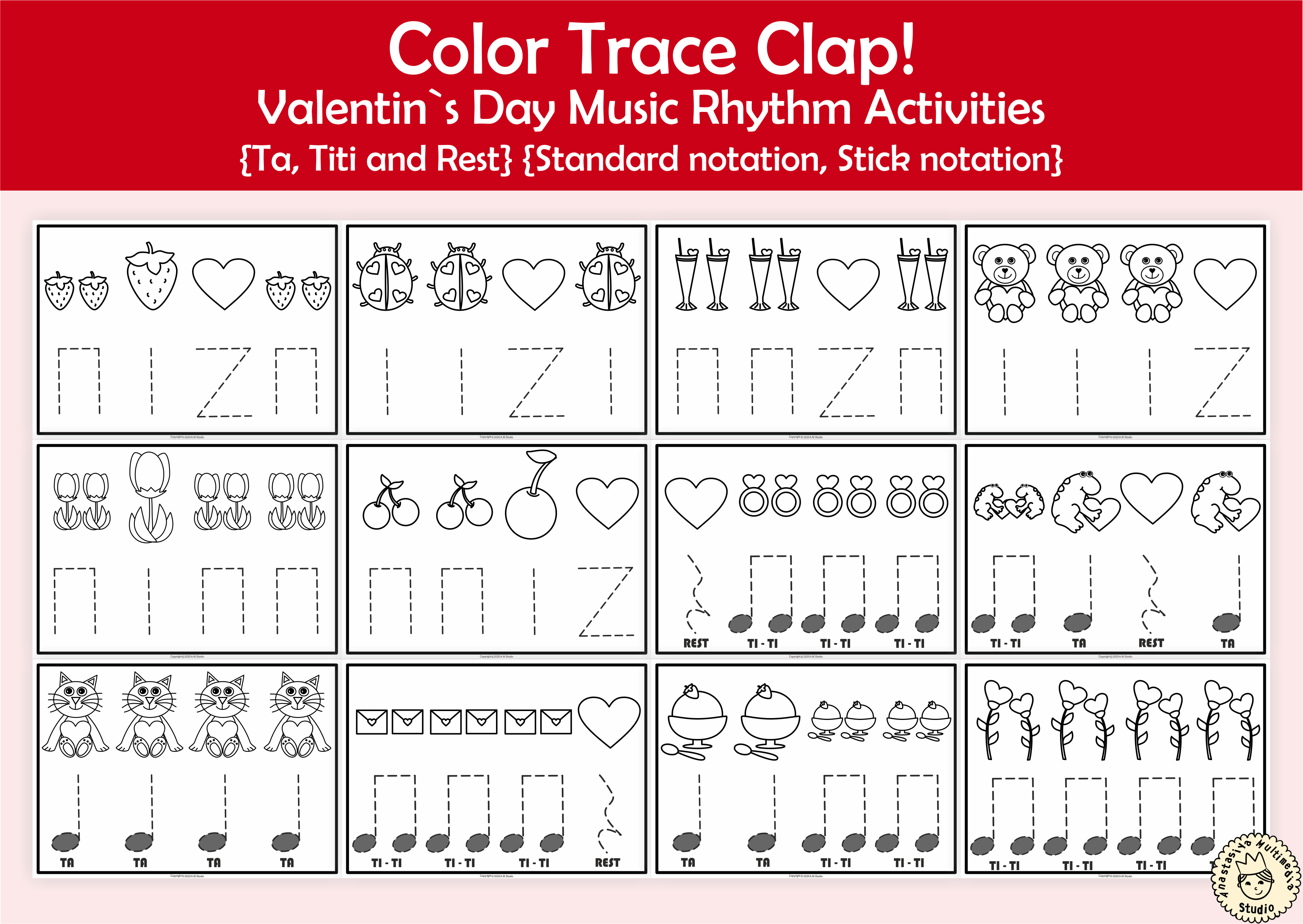 Color Trace Clap Valentine S Day Music Rhythm