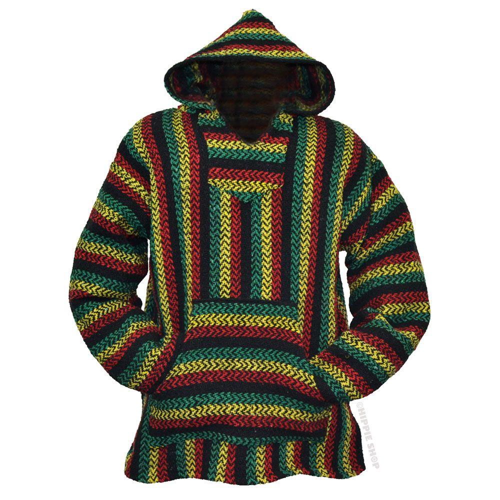 7b6ddbcb9e15 Rasta Pullover Baja Hoodie