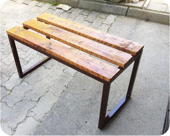 handmade bench 60x30x35cm by IronFurniture on Etsy