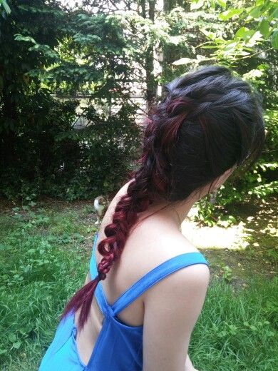 Dragon braid hair