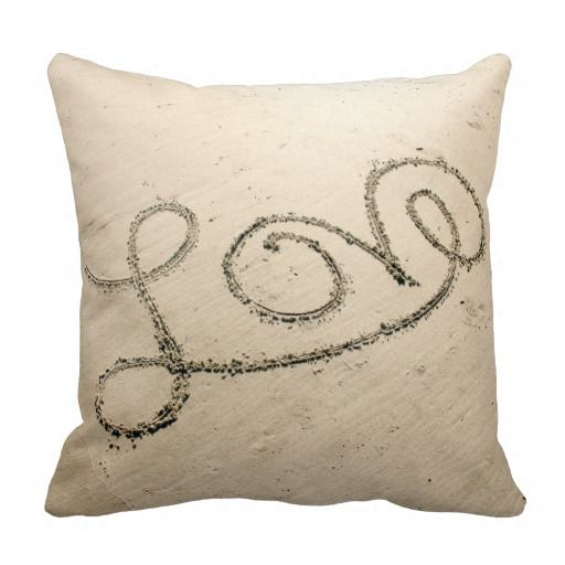 Love In The Sand Pillow Pillows Throw Pillows Beach House Decor