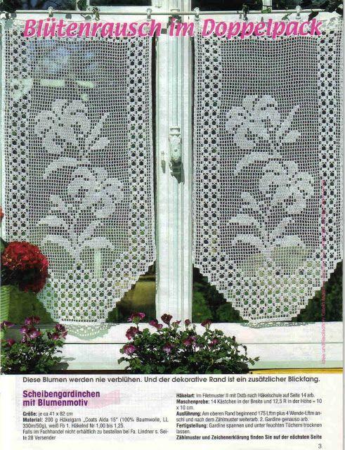 Cortinas Crochet ~ free diagrams